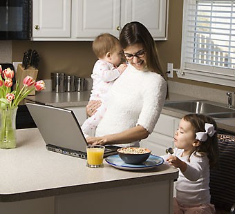 working from home mom